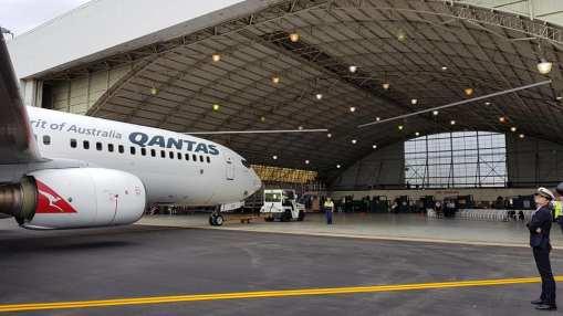 Qantas Providing an aircraft for the day
