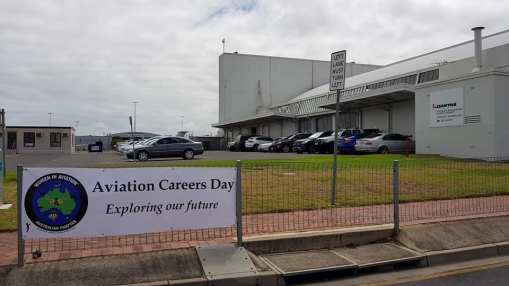 WAI Australian Chapter Aviation Careers day banner at Qantas event